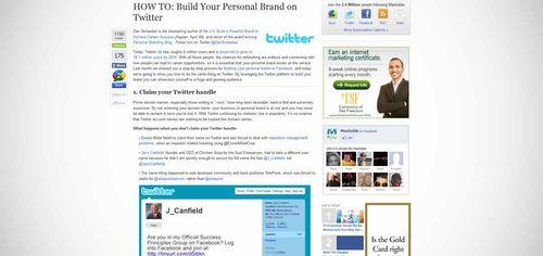 Twitter Branding Yourself
