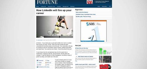 LinkedIn Fortune Magazine 2010